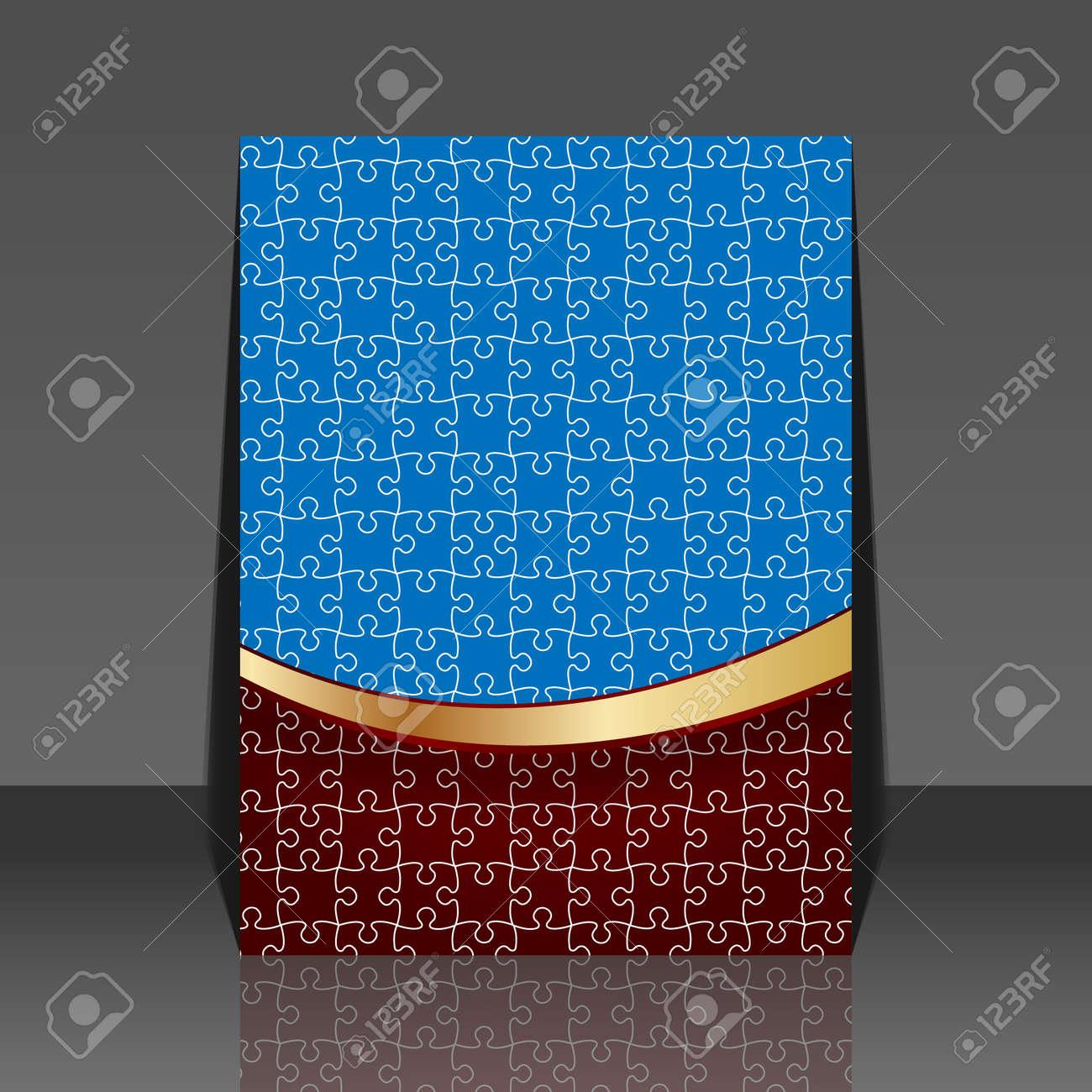 Puzzle pieces design - flyer Stock Vector - 18522477