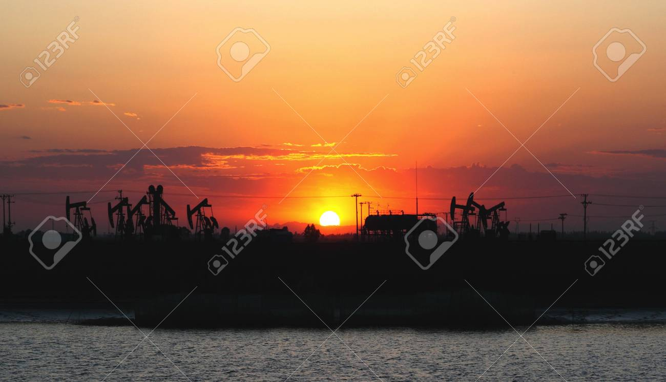 Oil pumps  Oil industry equipment Stock Photo - 16491483