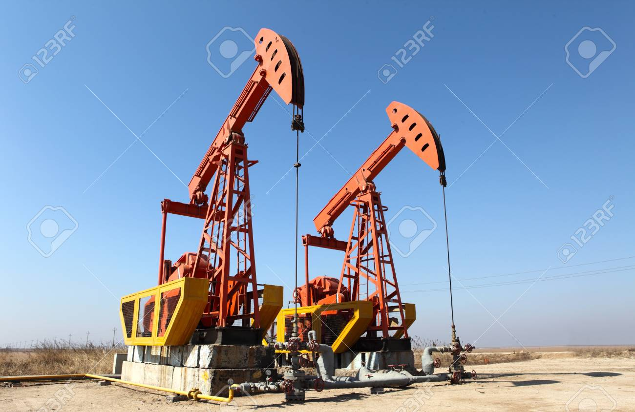 Oil pumps  Oil industry equipment Stock Photo - 16708127