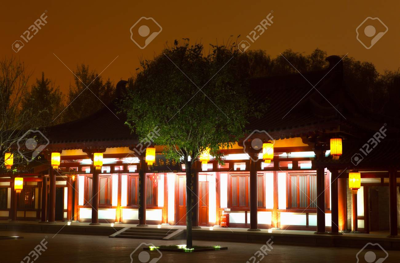 Beautiful night scenes of the famous ancient city of Xian,China  Stock Photo - 17091941
