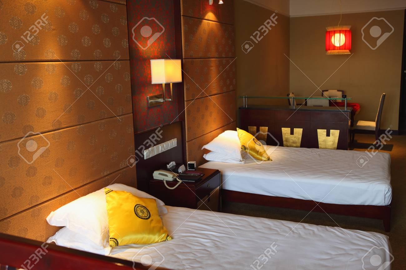 Interior of modern comfortable hotel room  Stock Photo - 17119075
