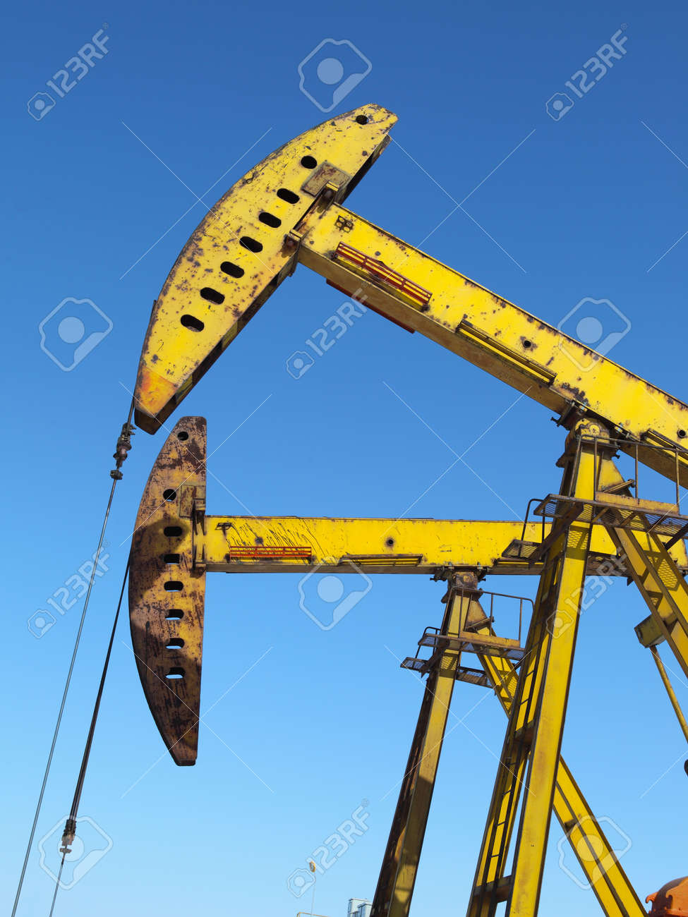 Oil pumps  Oil industry equipment Stock Photo - 17140444