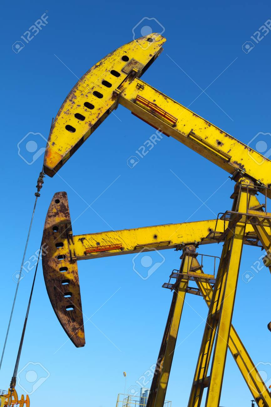 Oil pumps  Oil industry equipment Stock Photo - 17140461