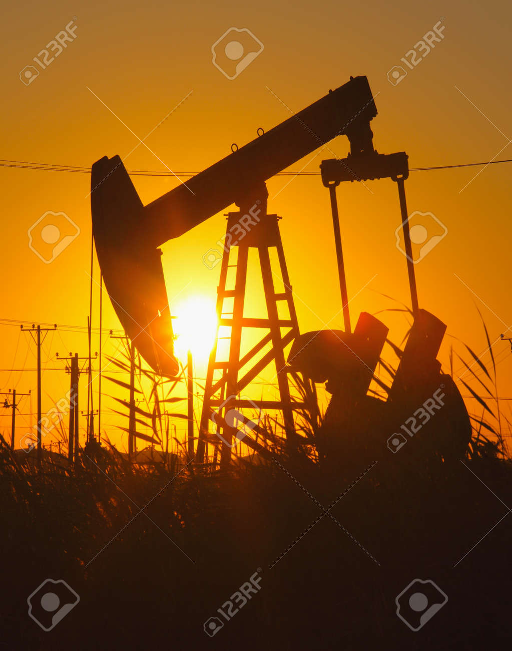Oil pumps  Oil industry equipment Stock Photo - 18004813