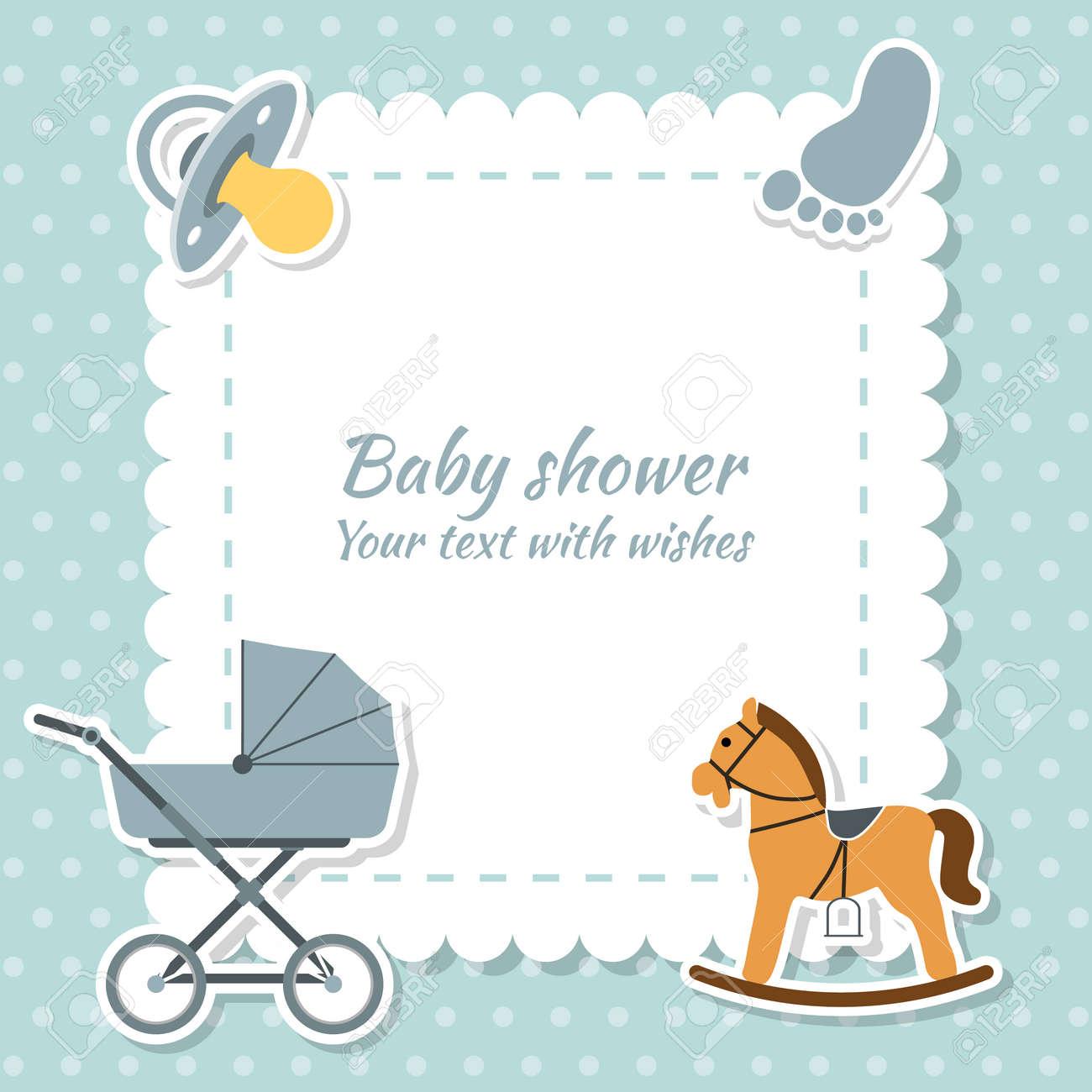 Baby boy greeting card baby shower vector royalty free cliparts baby boy greeting card baby shower vector stock vector 54110036 m4hsunfo