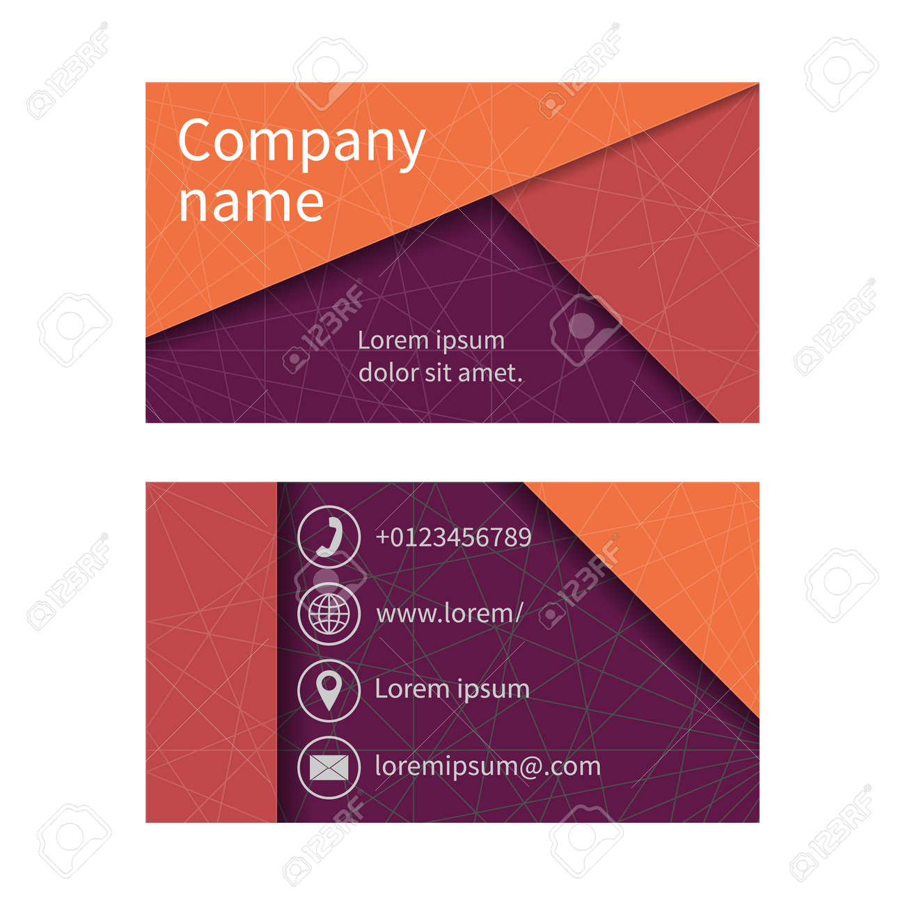Business card with abstract background of lines business cards business card with abstract background of lines business cards set space for company name reheart Image collections