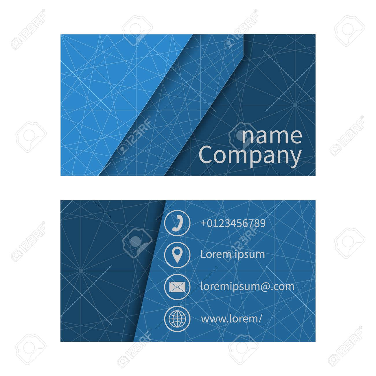 Les Cartes Daffaires Rgles Espace Pour Nom De La Socit Adresse Tlphone E Mail Carte Visite Vierge Modle Conception D Affaires