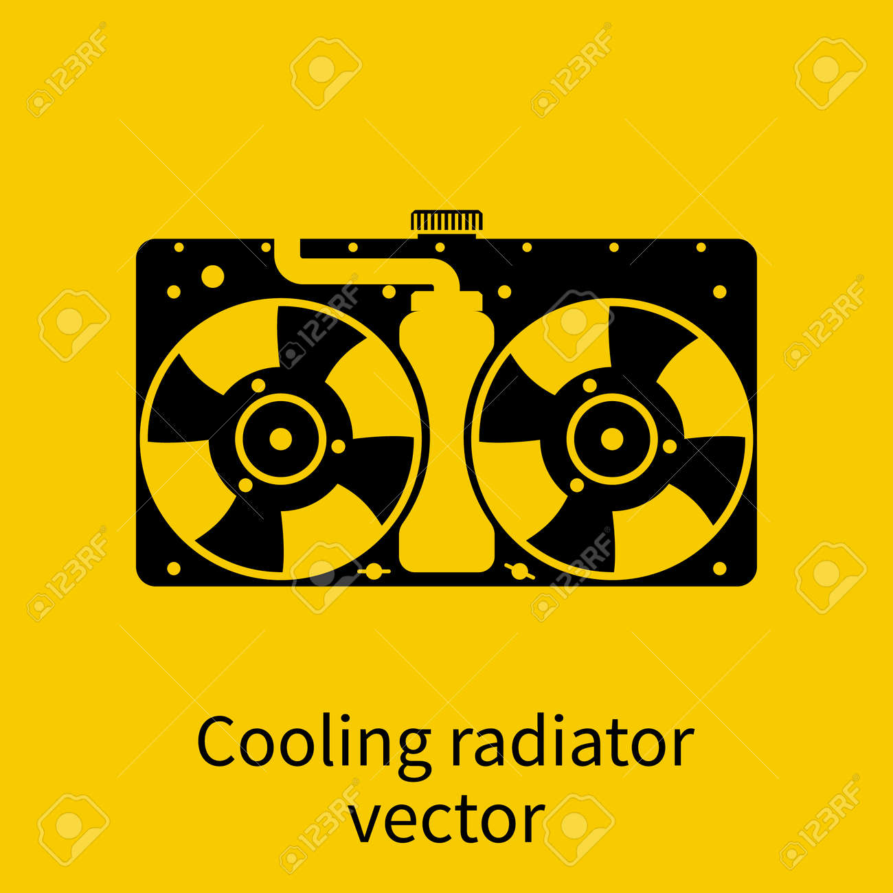 Car Radiator Icon Royalty Free Cliparts Vectors And Stock
