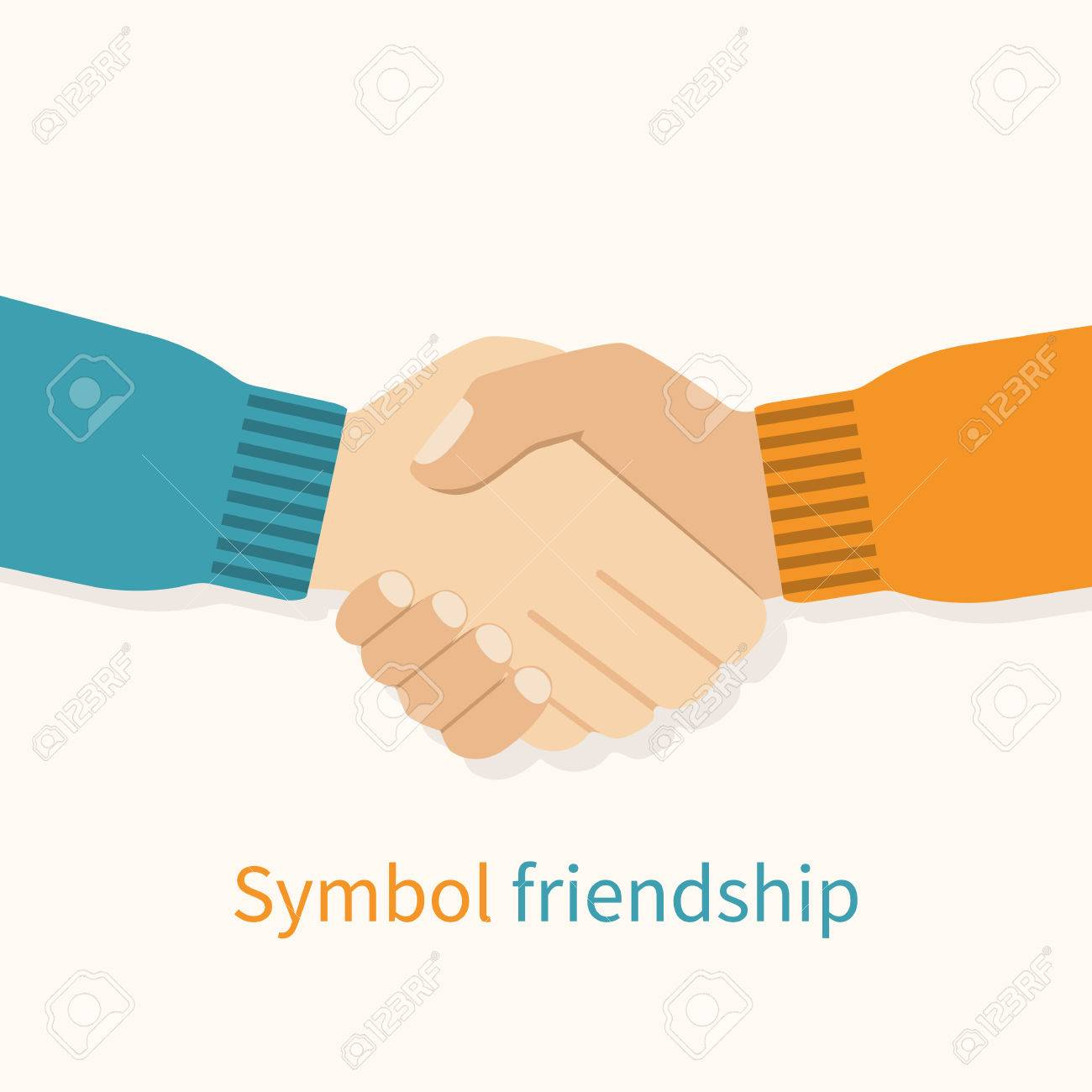 Handshake friends as a symbol of friendship vector illustration handshake friends as a symbol of friendship vector illustration flat design partners shaking hands buycottarizona Choice Image