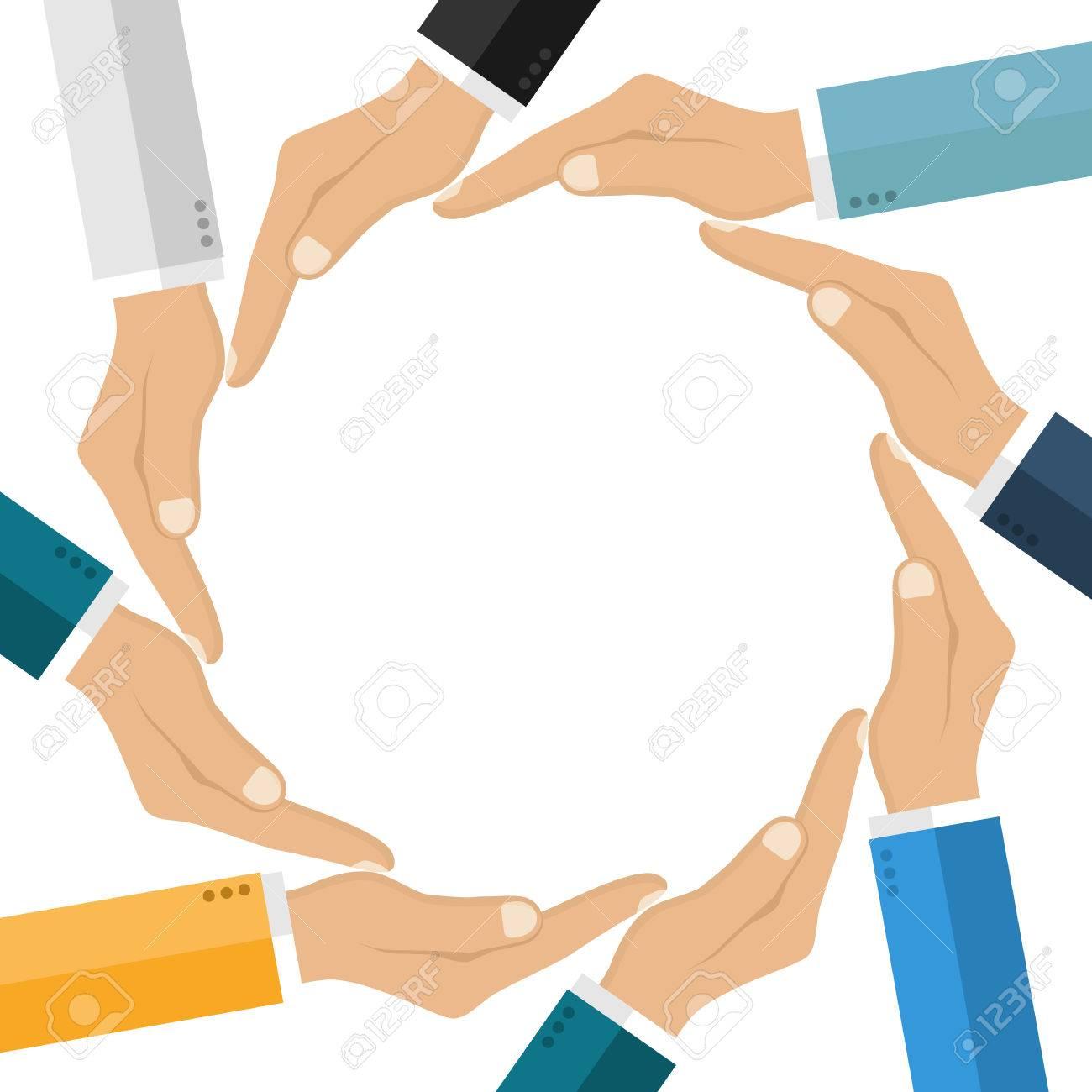 Human hands making circle symbol unification friendship human hands making circle symbol unification friendship protection connecting people empty space biocorpaavc