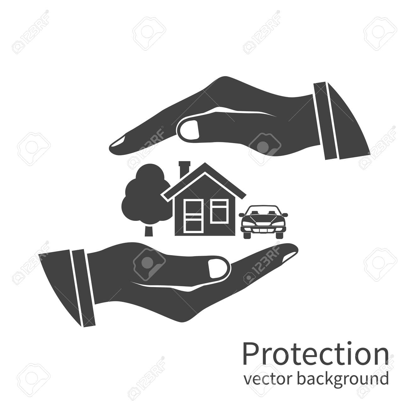 Property Insurance Icon. Concept Security Of Property, Home ...