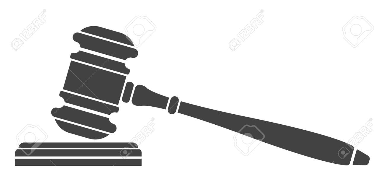 judge gavel icon auction hammer isolated black silhouette on rh 123rf com gravel victoria texas auction gavel vector