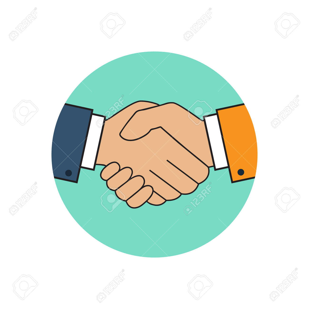Handshake Icon Background For Business And Finance Symbol Of