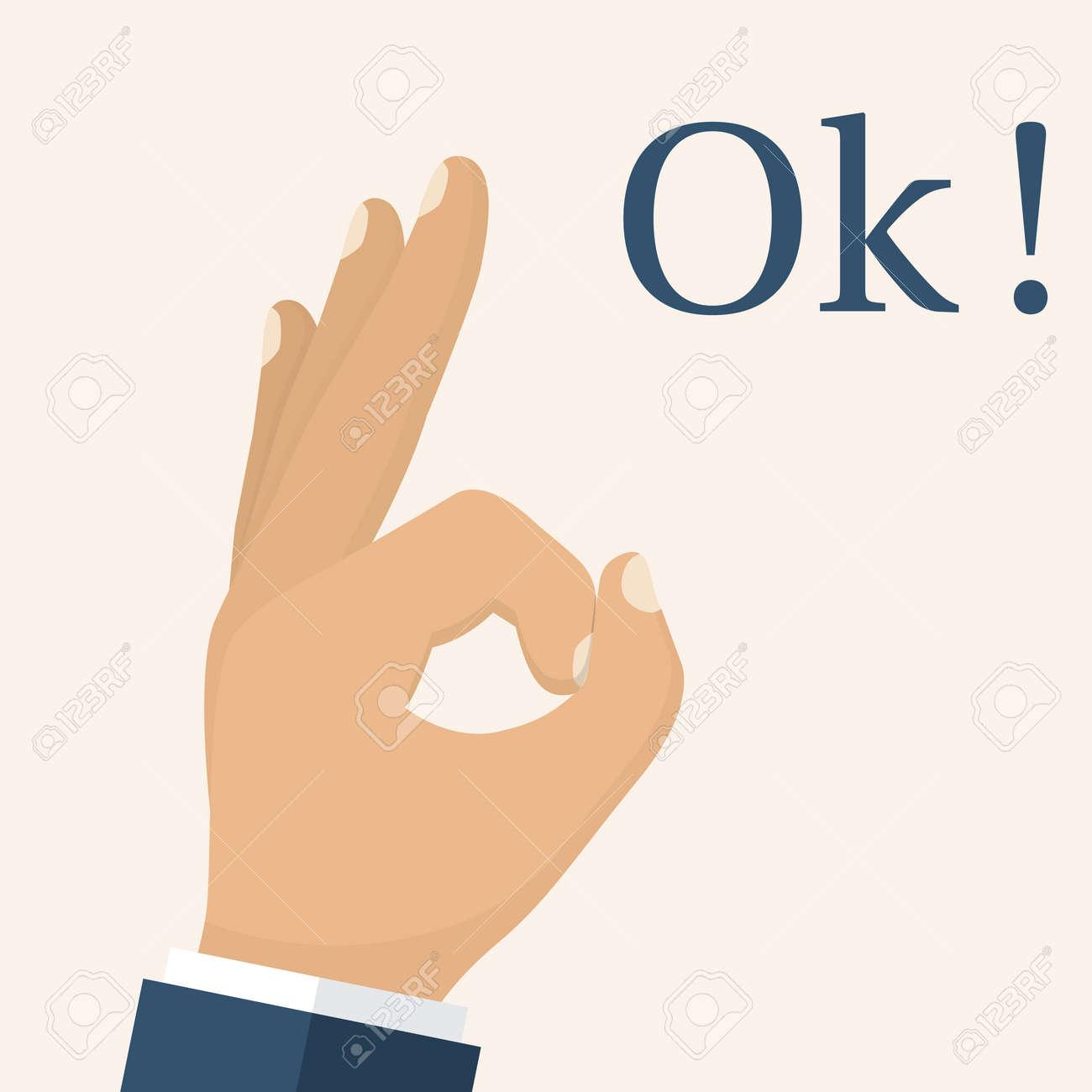 Ok Hand. Mann Gestikulieren Finger. OK-Zeichen Als Symbol Für Die ...