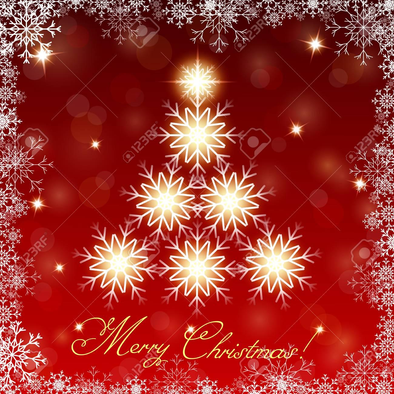 Decorazioni Natalizie Fiocchi Di Neve.Vettoriale Albero Di Natale Brillante Da Fiocchi Di Neve Priorita
