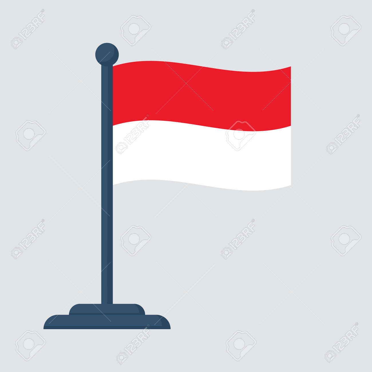 indonesia flag isolated on white background royalty free cliparts vectors and stock illustration image 81645660 indonesia flag isolated on white background