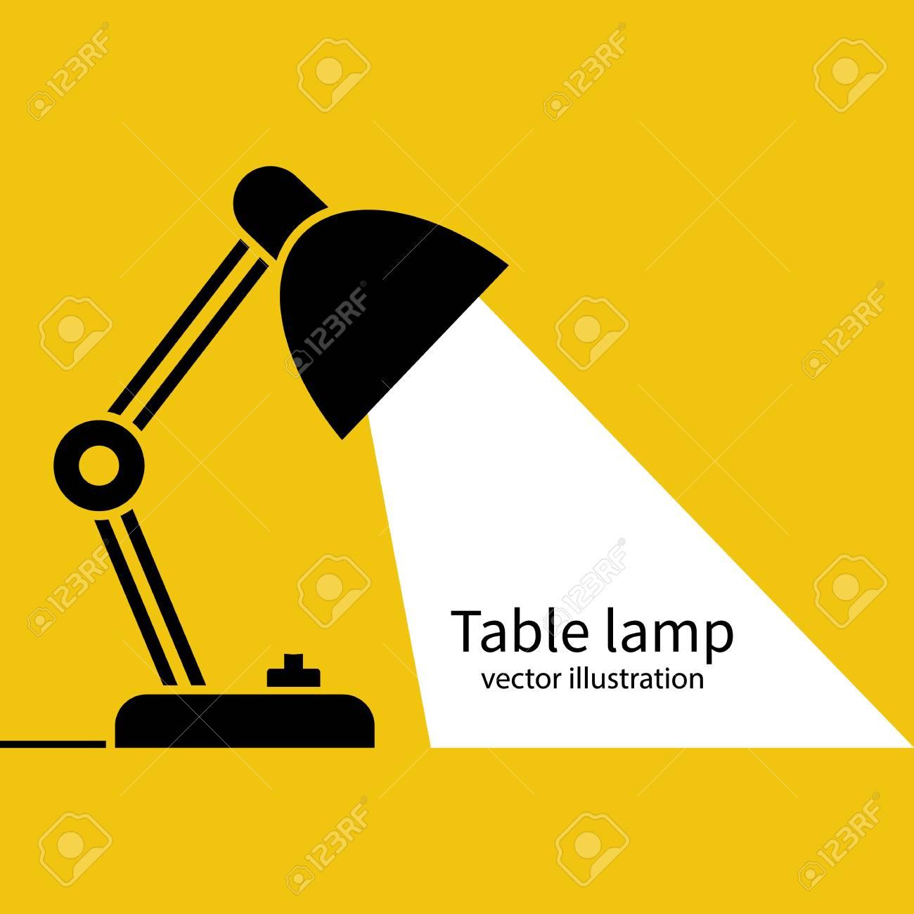Table office lamp Desktop electric Vector illustration flat design. - 95070935