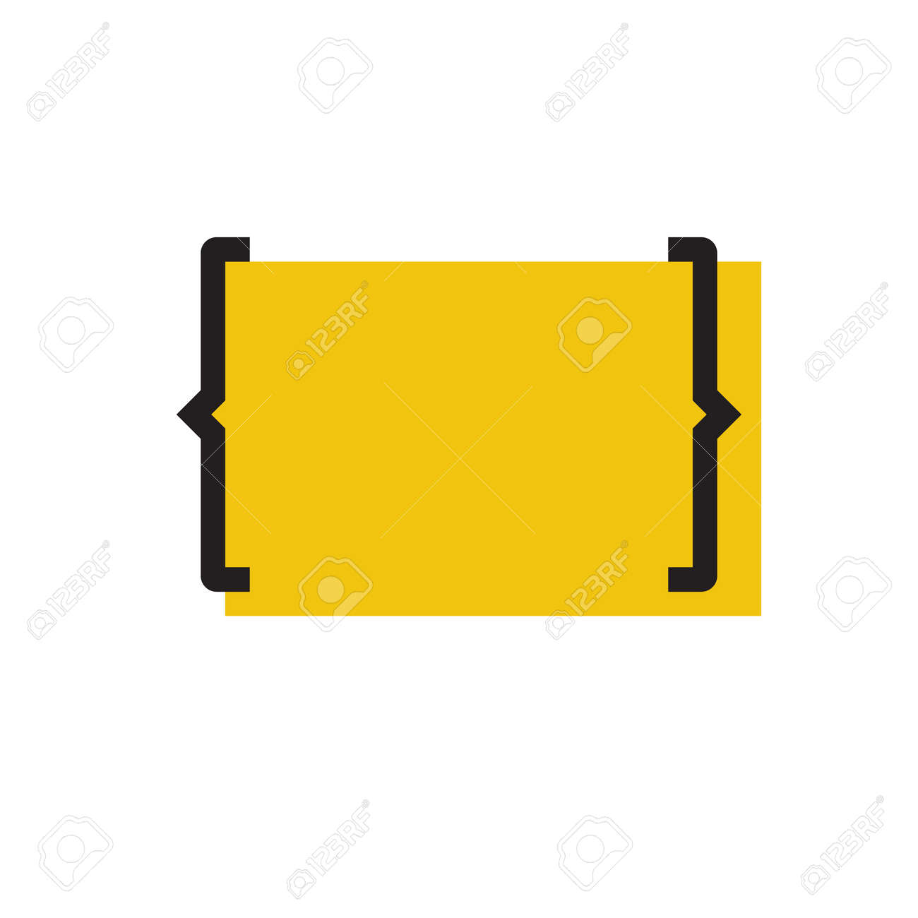 blank yellow template with bracket. royalty free cliparts, vectors