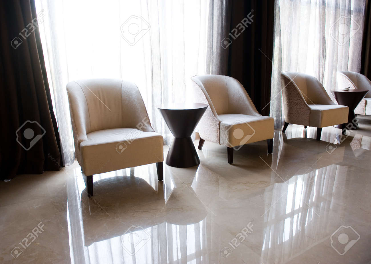 chairs and table close to a window for rest.  Stock Photo - 13265980