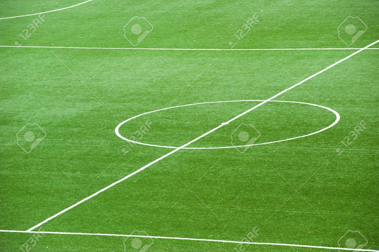 Soccer field, center and sideline. Stock Photo - 13344638