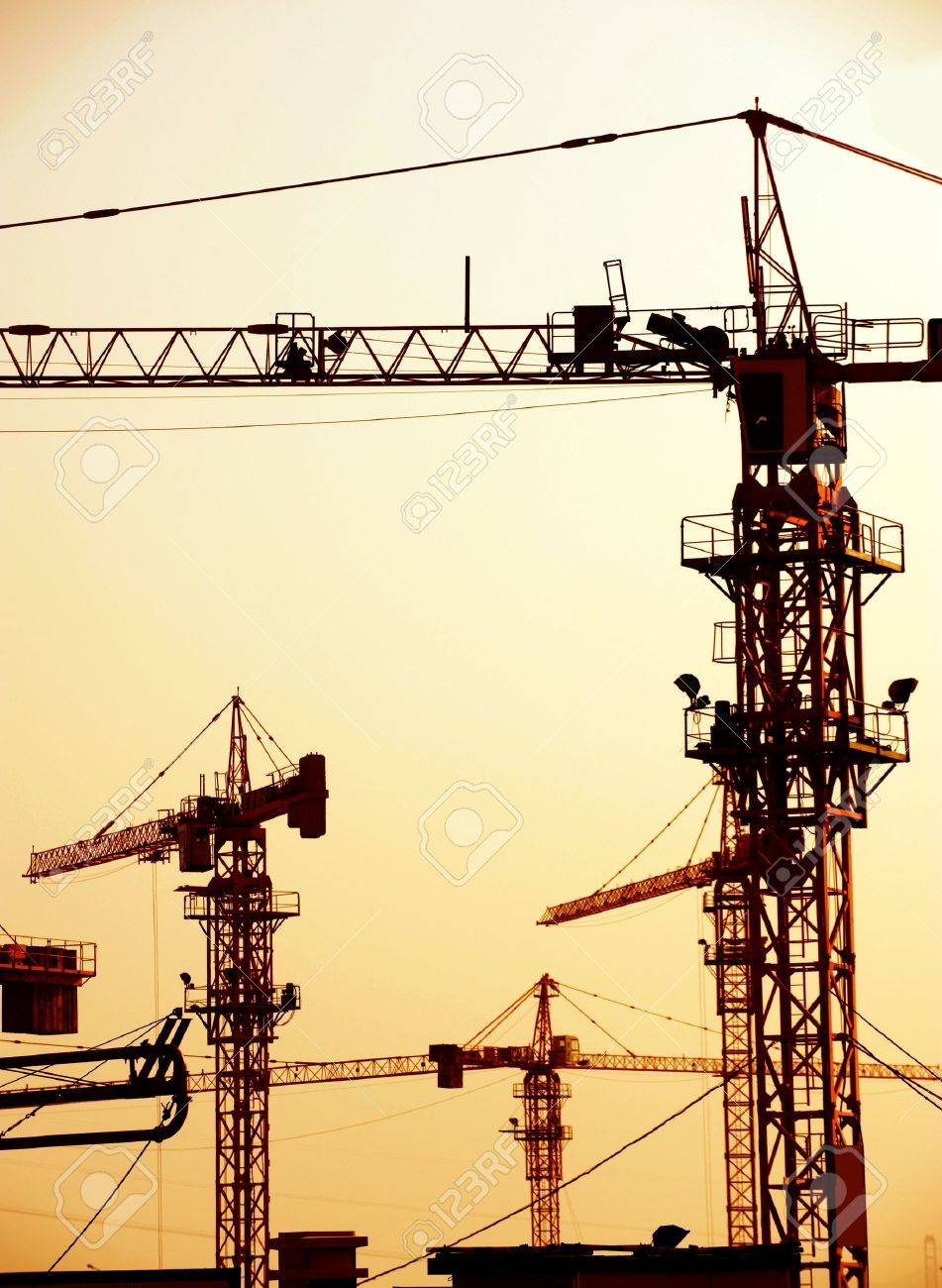 Cranes on a construction site in China. Stock Photo - 13695262