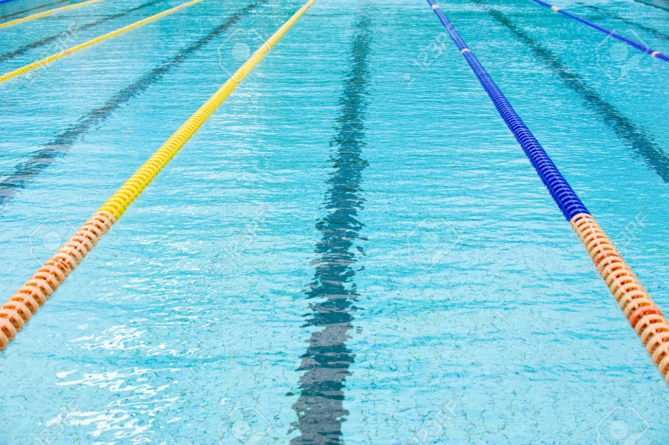 plastic lanes in swimming pool. - 13781540