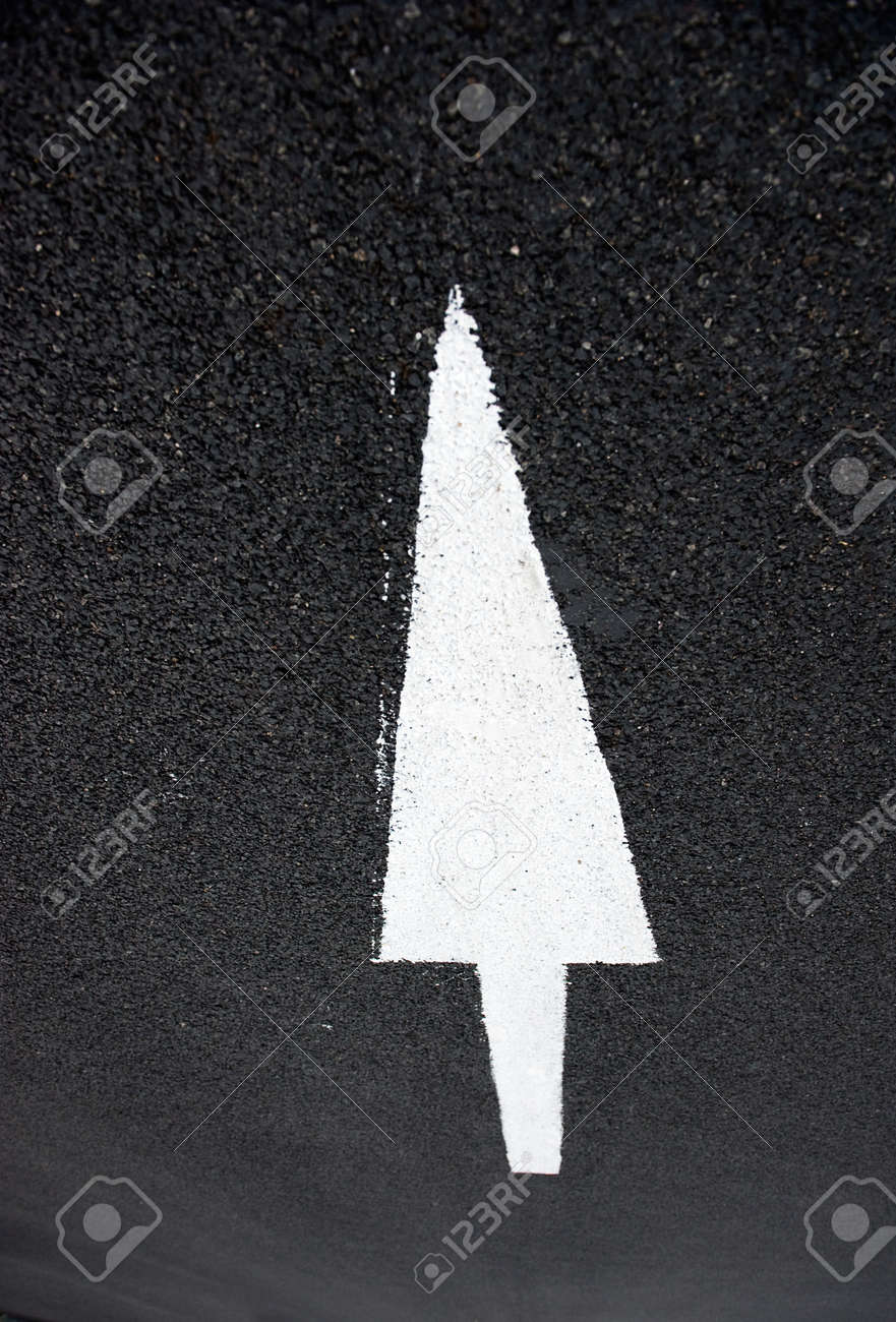 Arrow on the road, concept of business vision, innovation, success. Stock Photo - 13781280