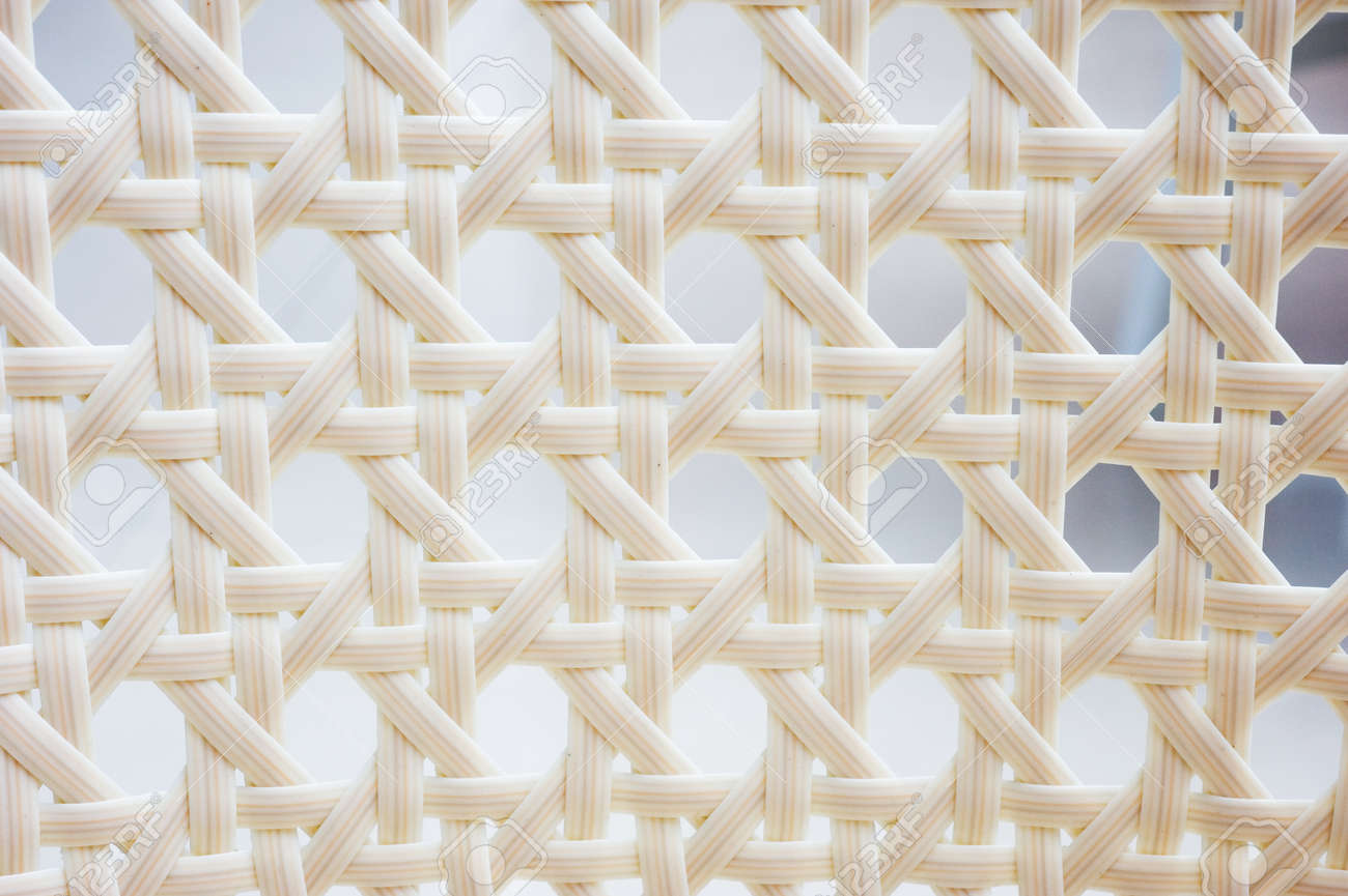 Delicieux A Chair White White Basket Weave Pattern. Stock Photo   13831658