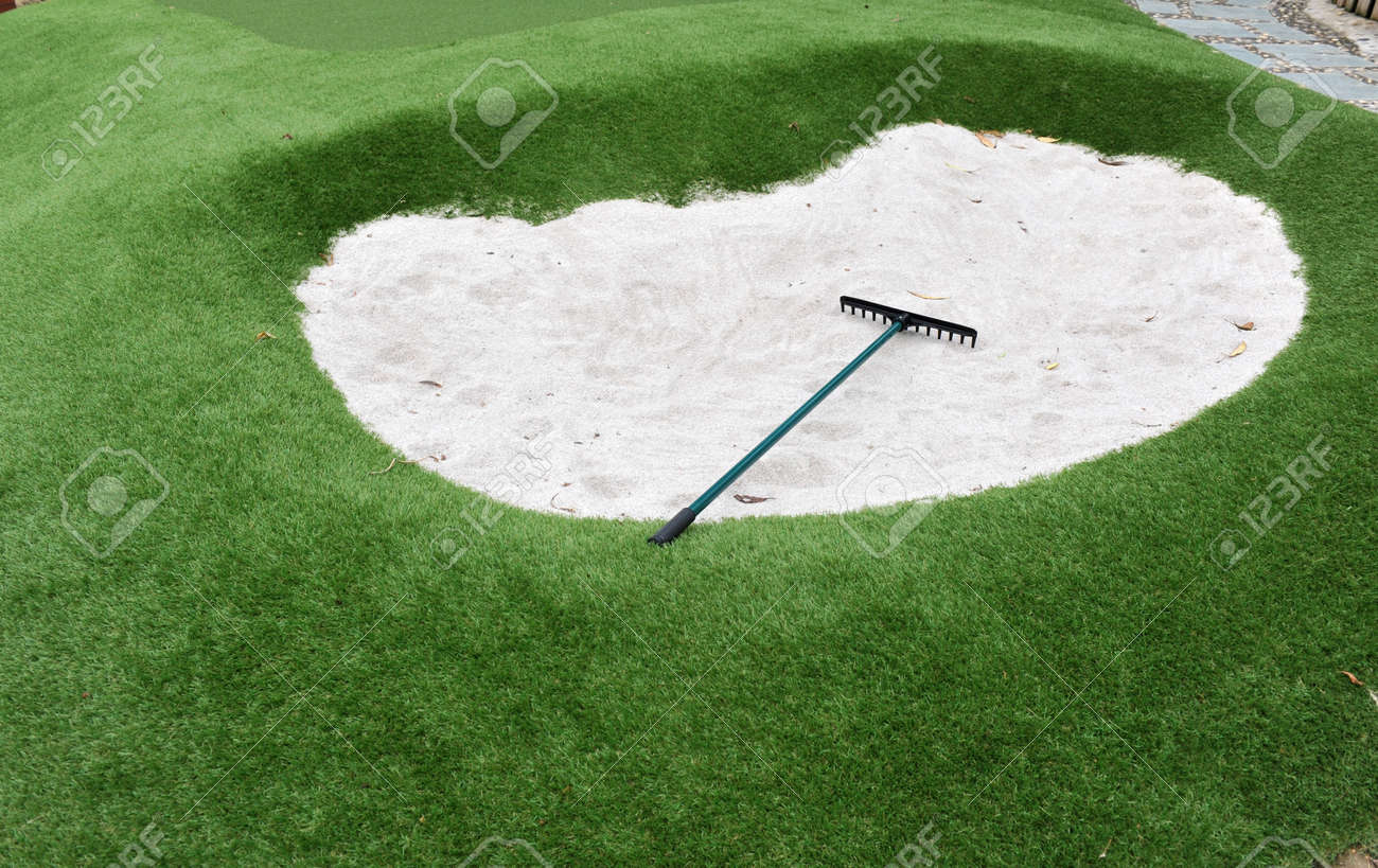 small golf sand bunkers for exercise. Stock Photo - 13827237