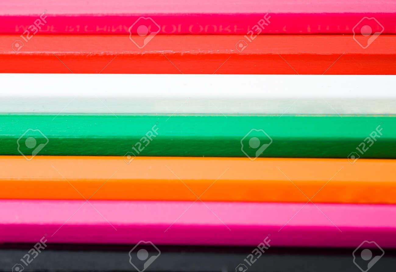 Spectrum of round colored wood pencils. Stock Photo - 13864116
