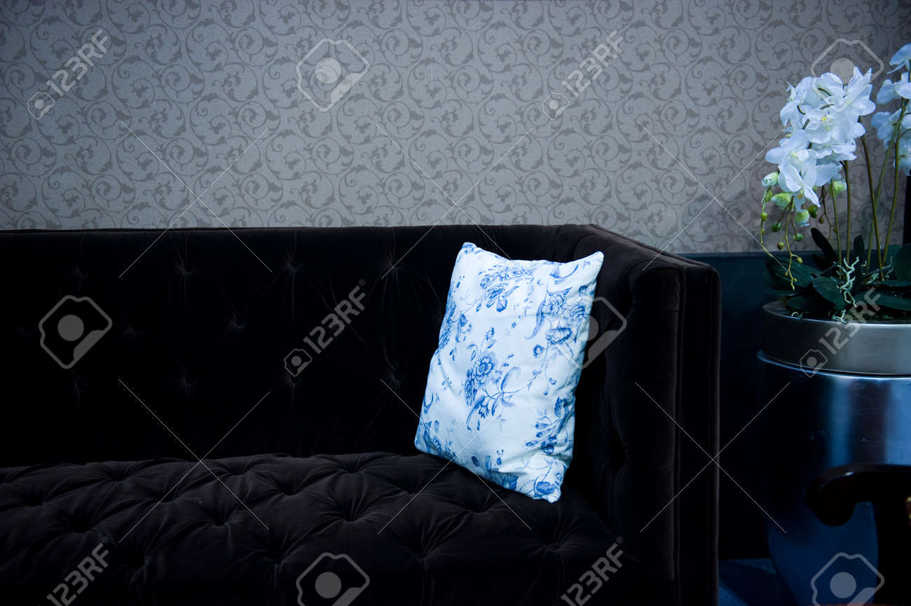 detail of couch and pillow . Stock Photo - 13883958
