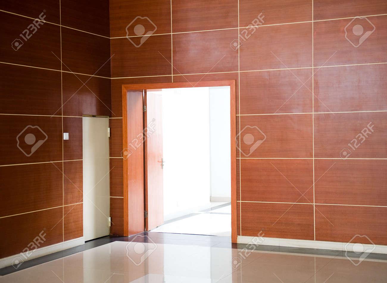 the empty room with opened door. Stock Photo - 14177267