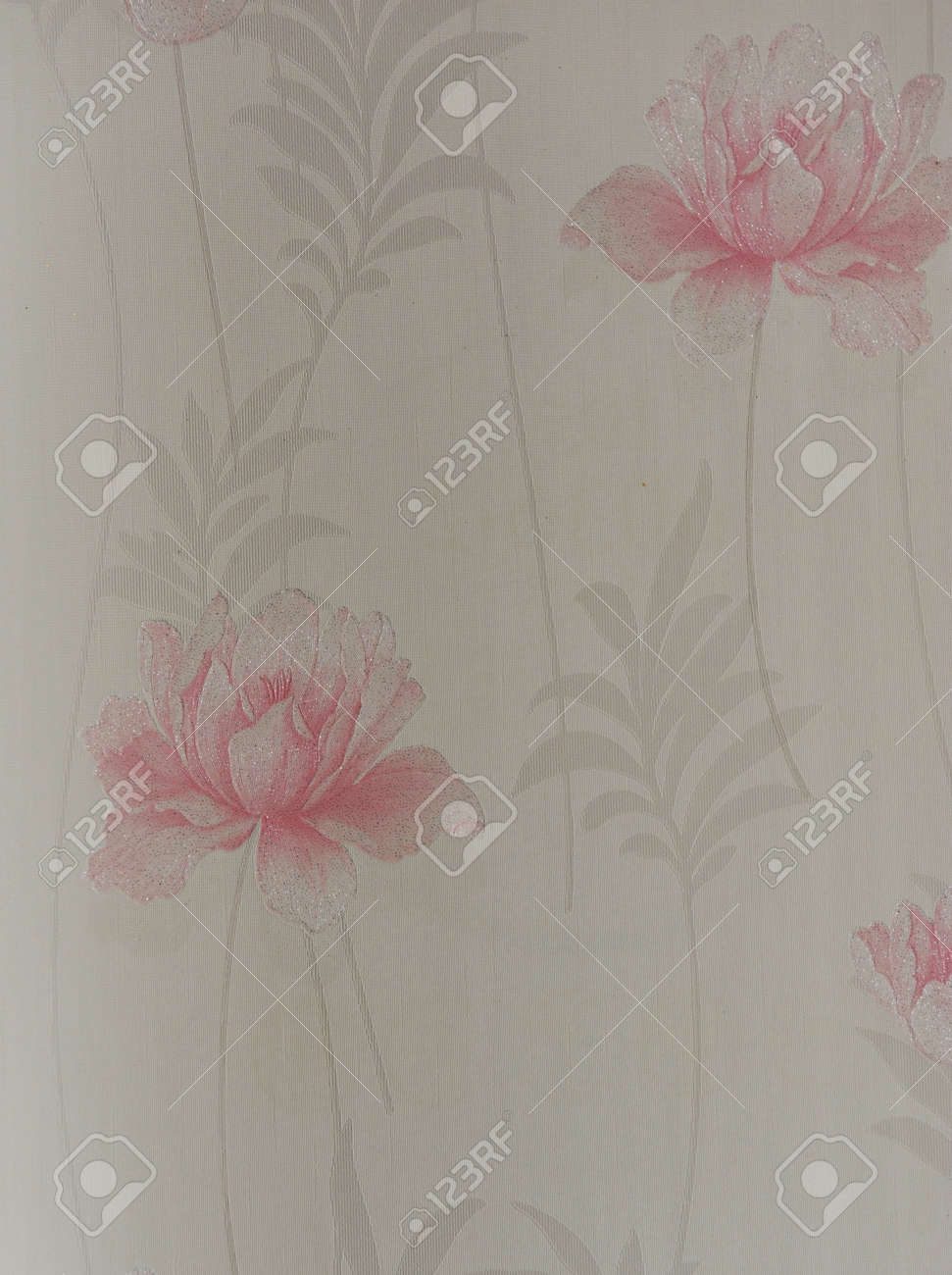 Beautiful seamless color flower pattern on wallpaper. Stock Photo - 14247756