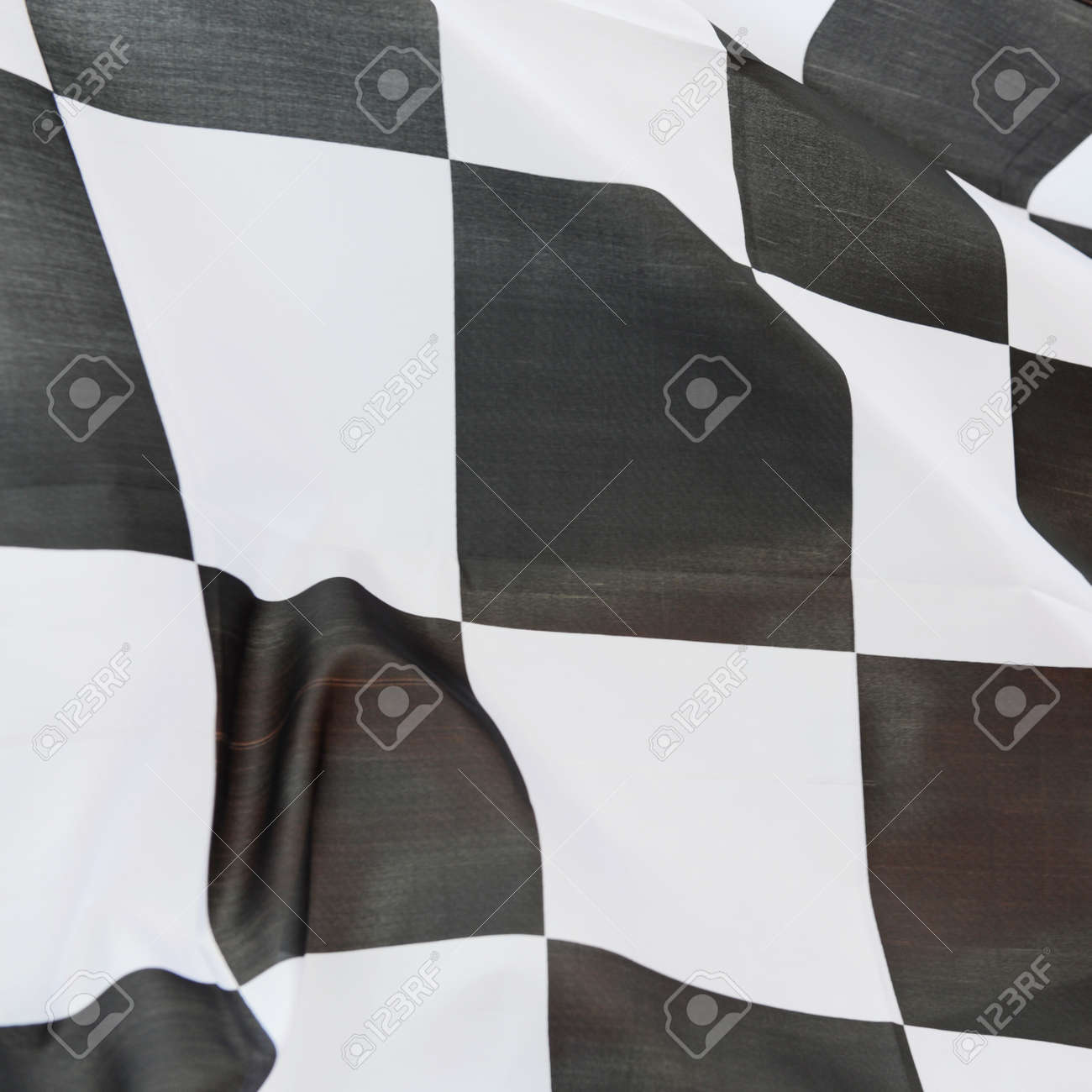 close-up of racing flag, background. Stock Photo - 14588877