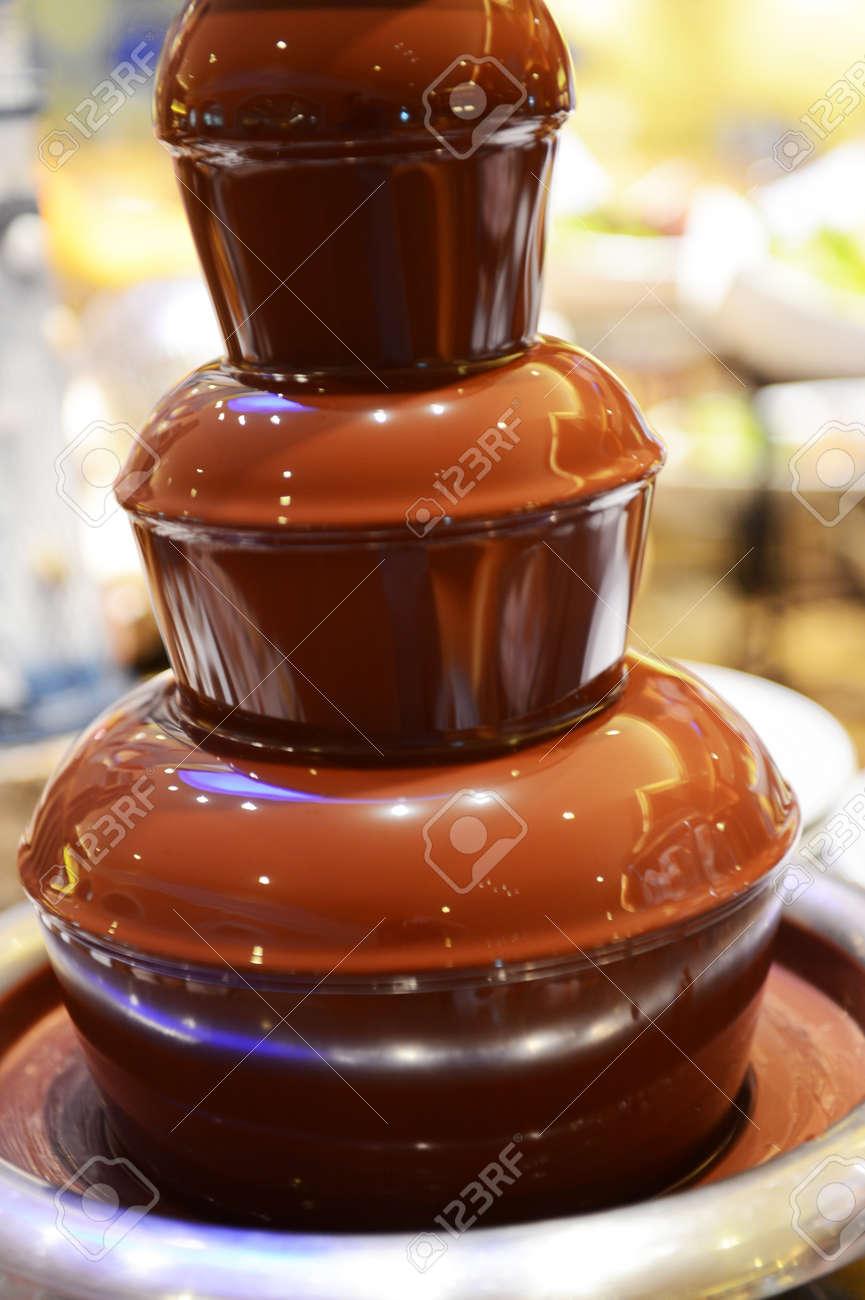 Chocolate Fondue Fountain. Electrics 4 Tier Stainless Steel Melt ...