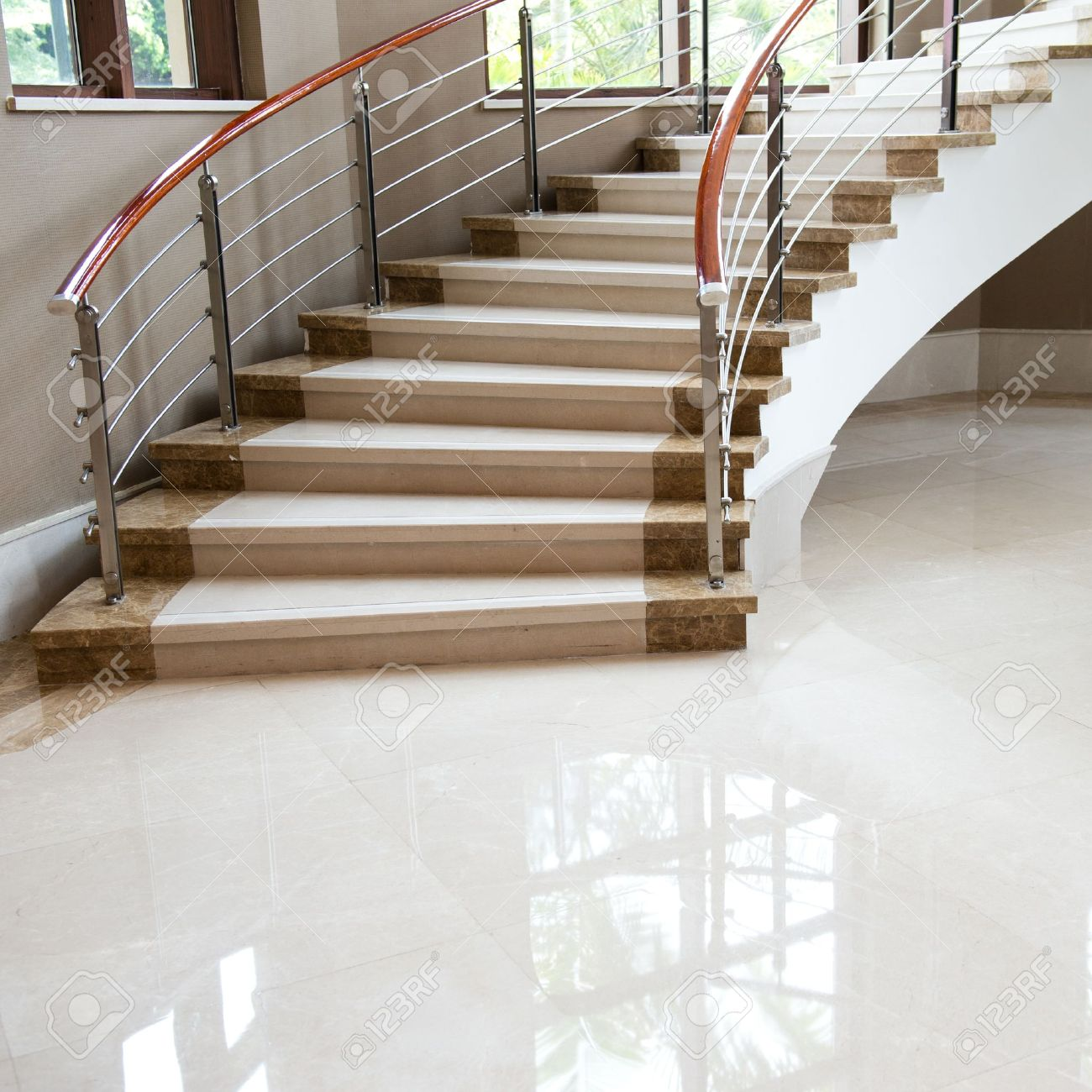 Luxury Room With Marble Stairs. Stock Photo   17403026