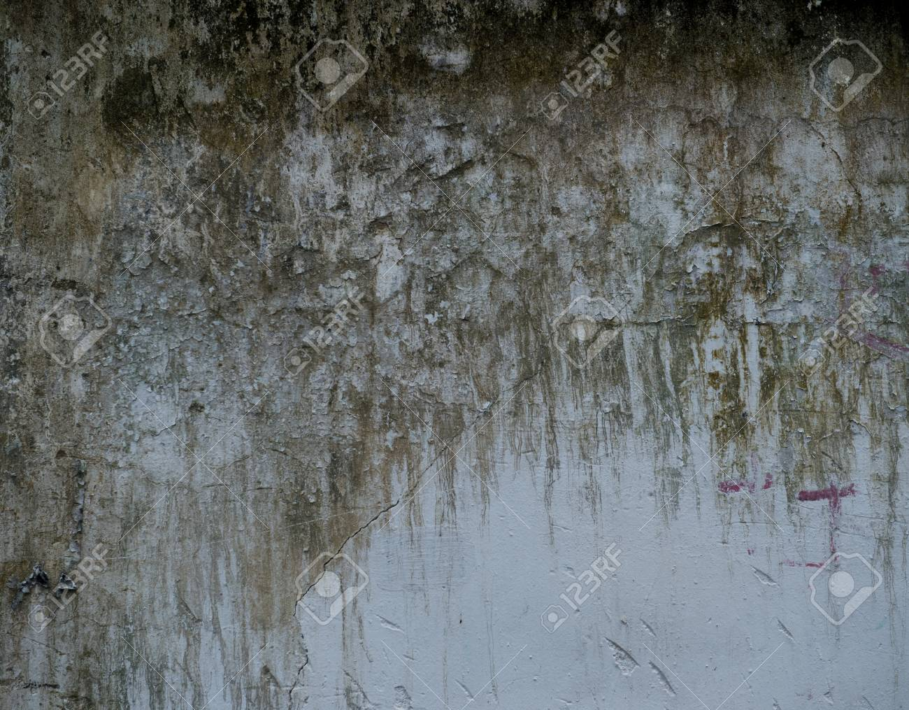 cracked concrete vintage wall background. Stock Photo - 17572395
