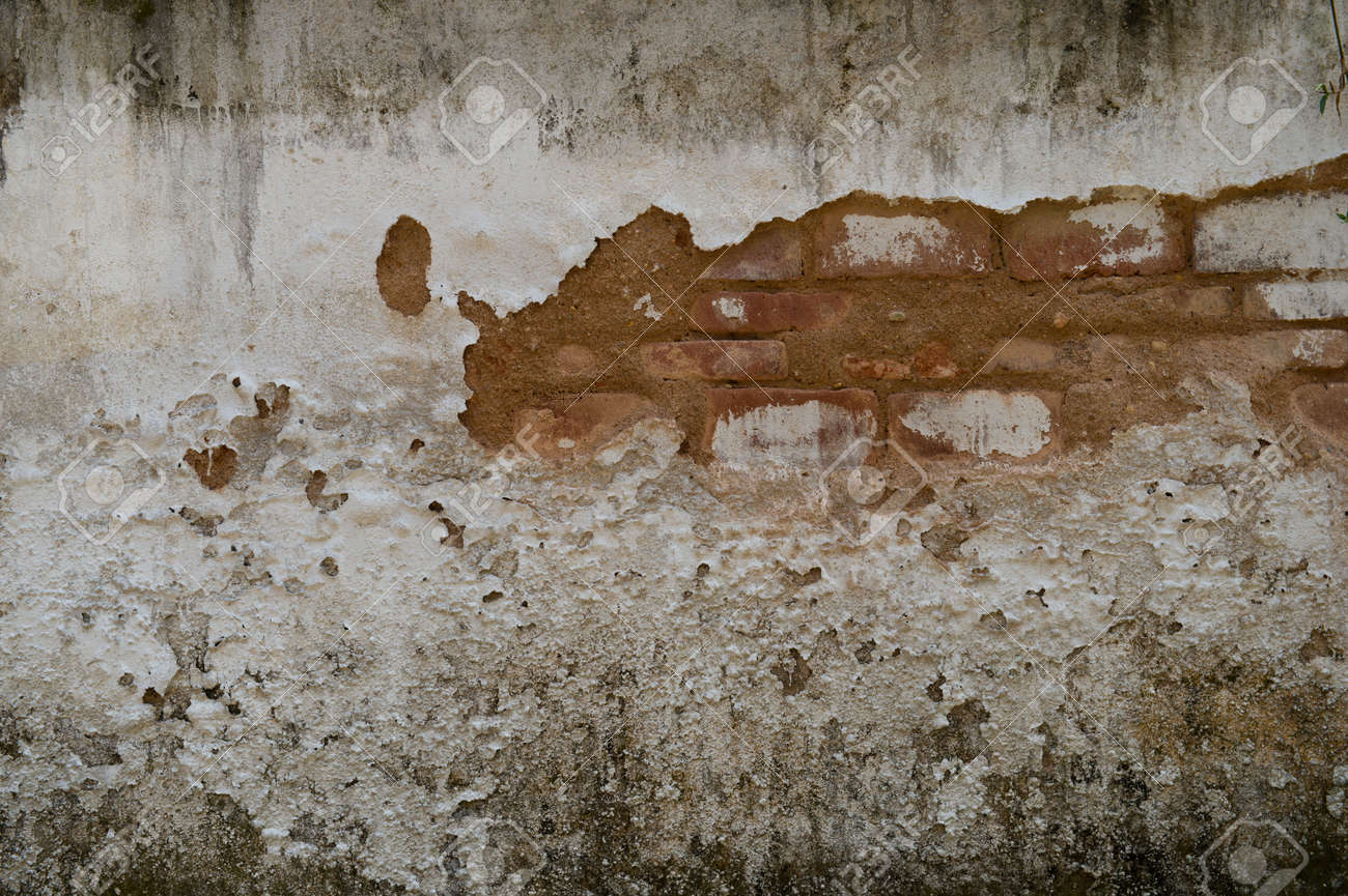 cracked concrete old brick wall background. Stock Photo - 17572540