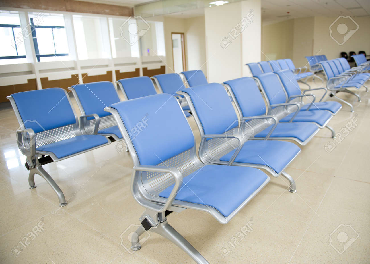 Empty chair in room - Hospital Waiting Room With Empty Chairs Stock Photo 17828500