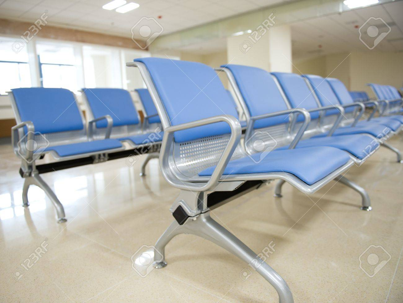 Empty chair in room - Hospital Waiting Room With Empty Chairs Stock Photo 17828384
