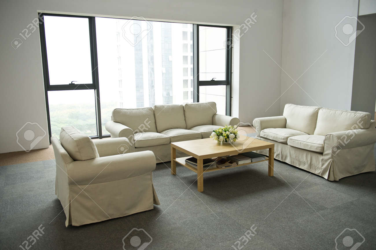 modern living room with sofa and coffee table. Stock Photo - 20029356