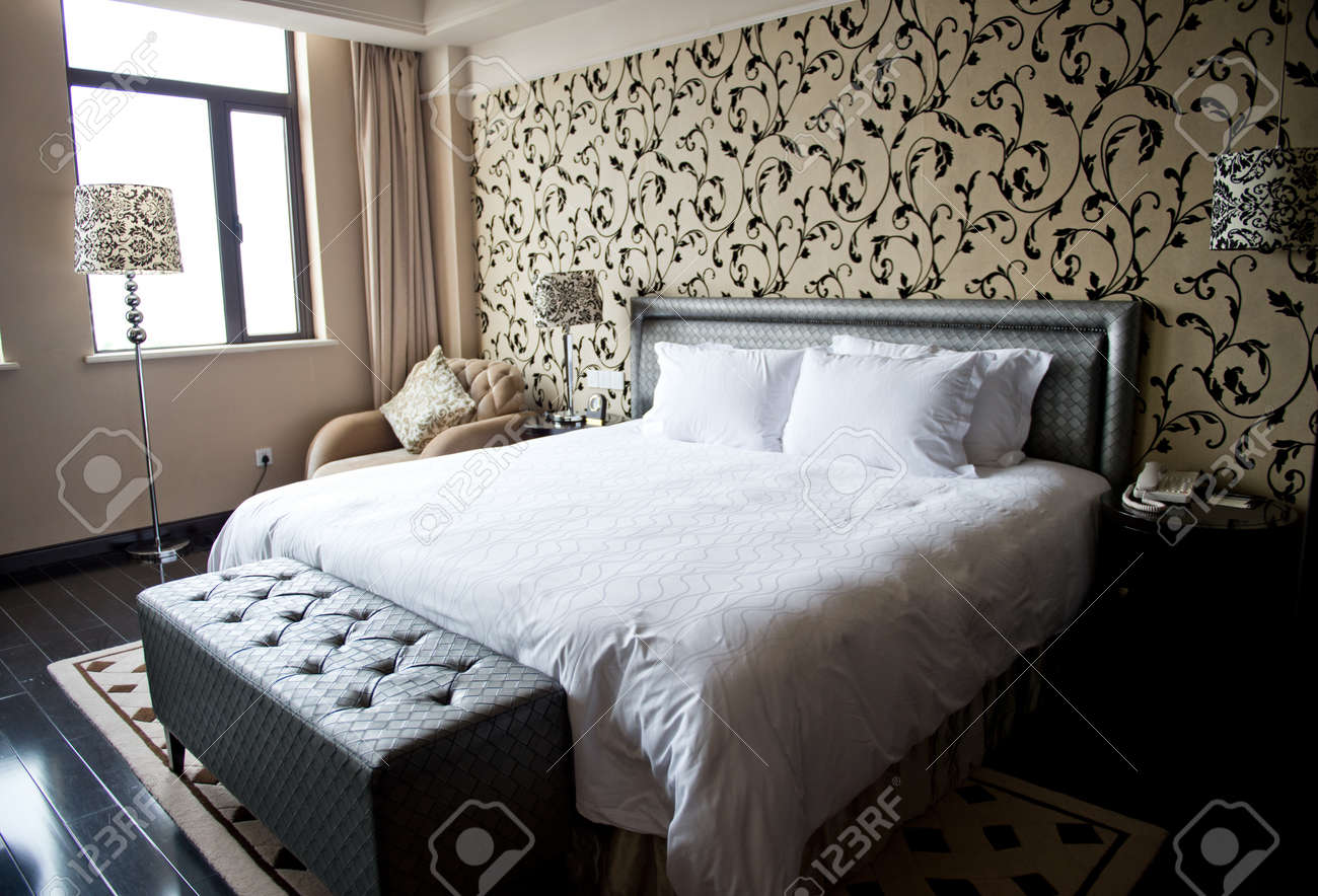 Comfortable bedroom in a hotel. Stock Photo - 20029360