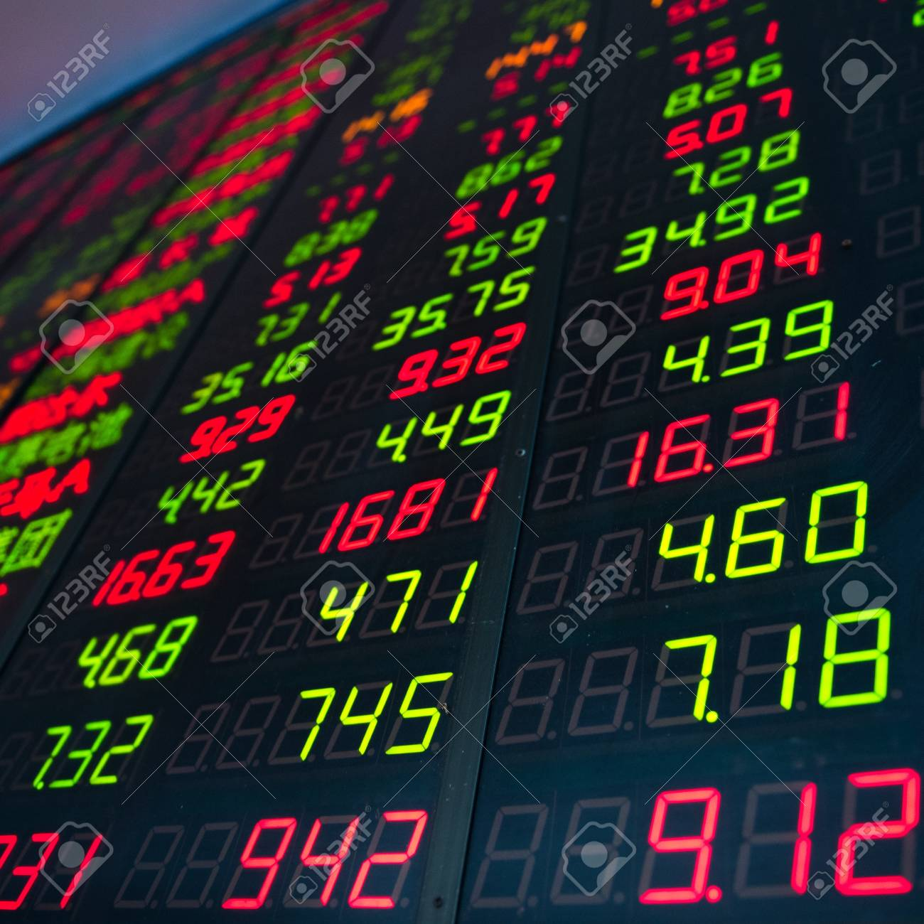 Display of Stock market quotes in China. Stock Photo - 20228854