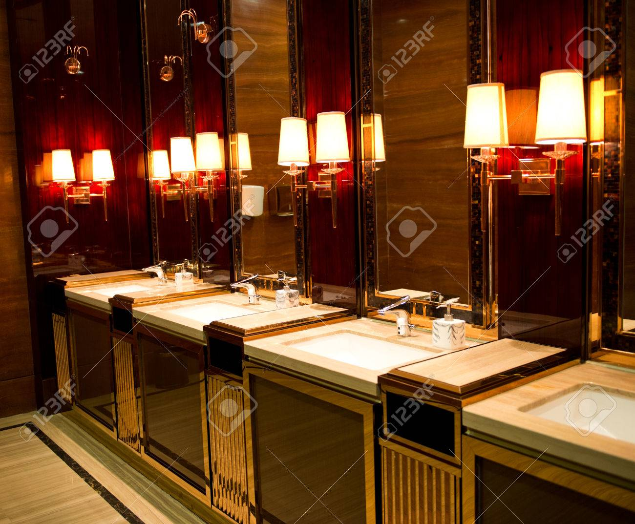 sinks and taps in a luxury public toilet stock photo picture and rh 123rf com