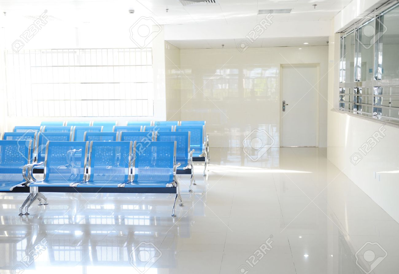 Hospital waiting room with empty chairs. Stock Photo - 25012566