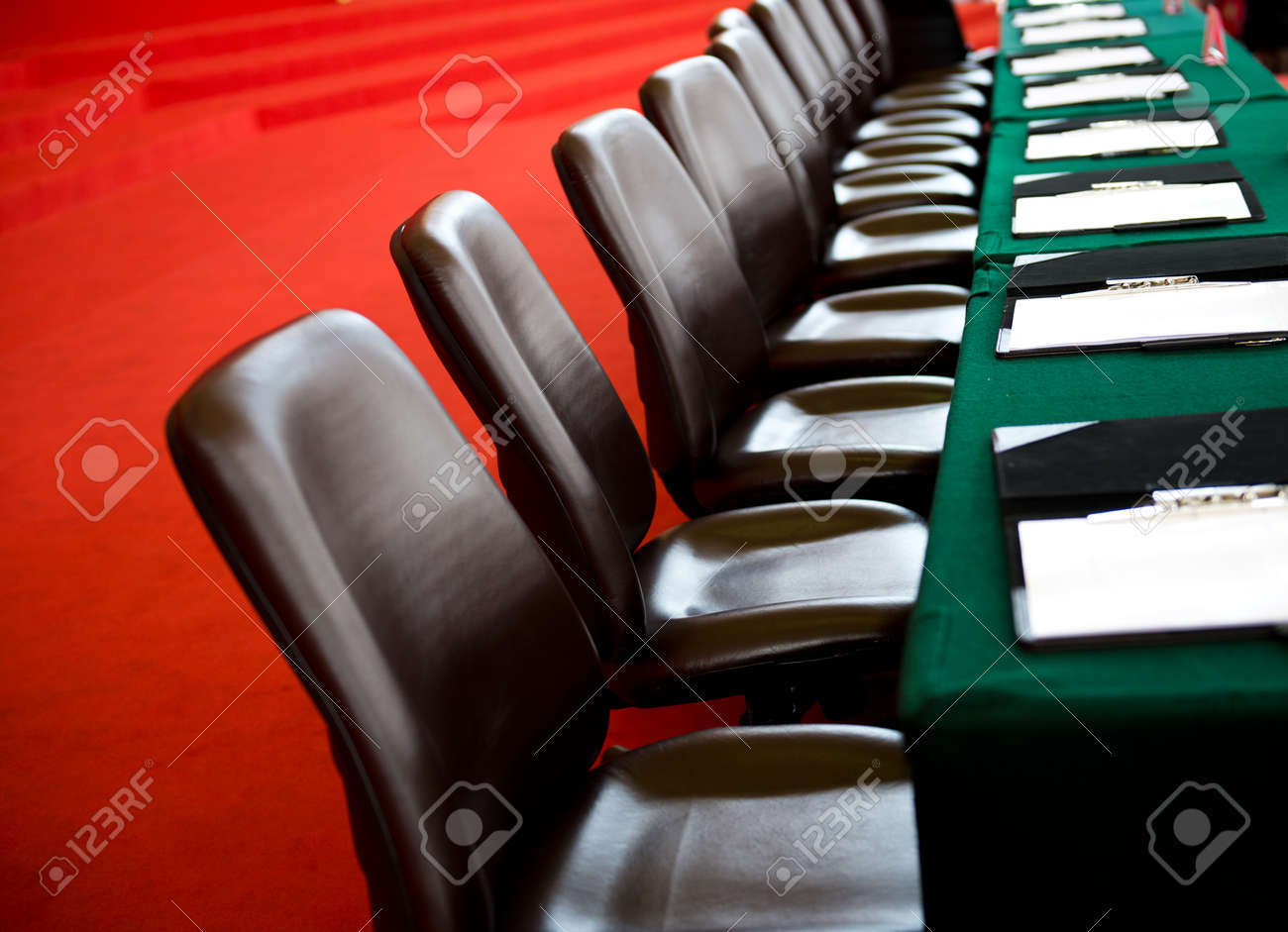 Conference table and chairs in meeting room Stock Photo - 33781309