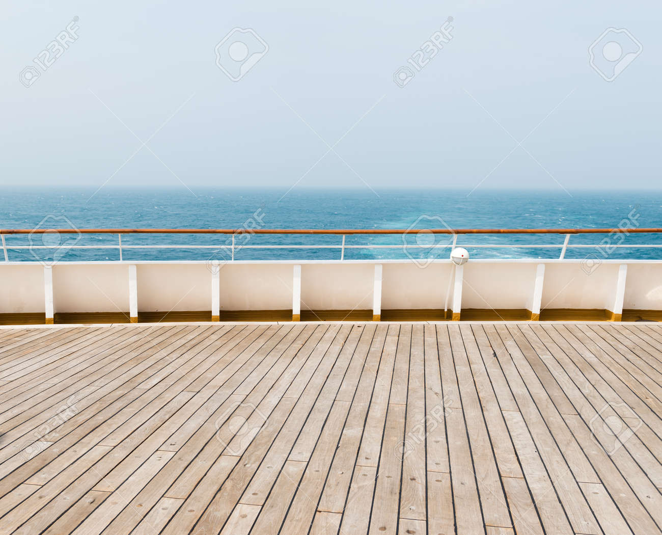 deck of luxury cruise ship Stock Photo - 35235327