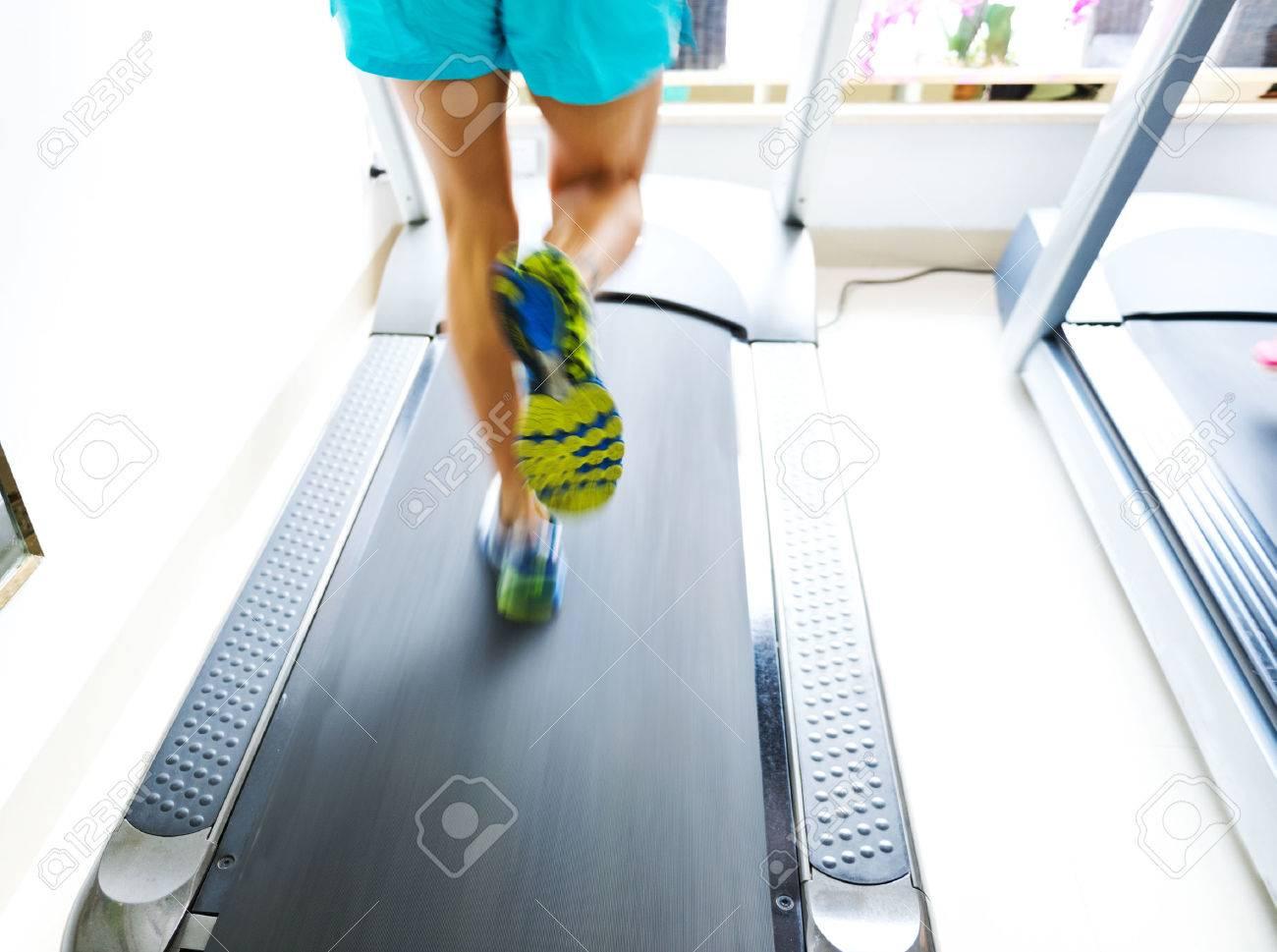 People running on a treadmill Stock Photo - 35414622