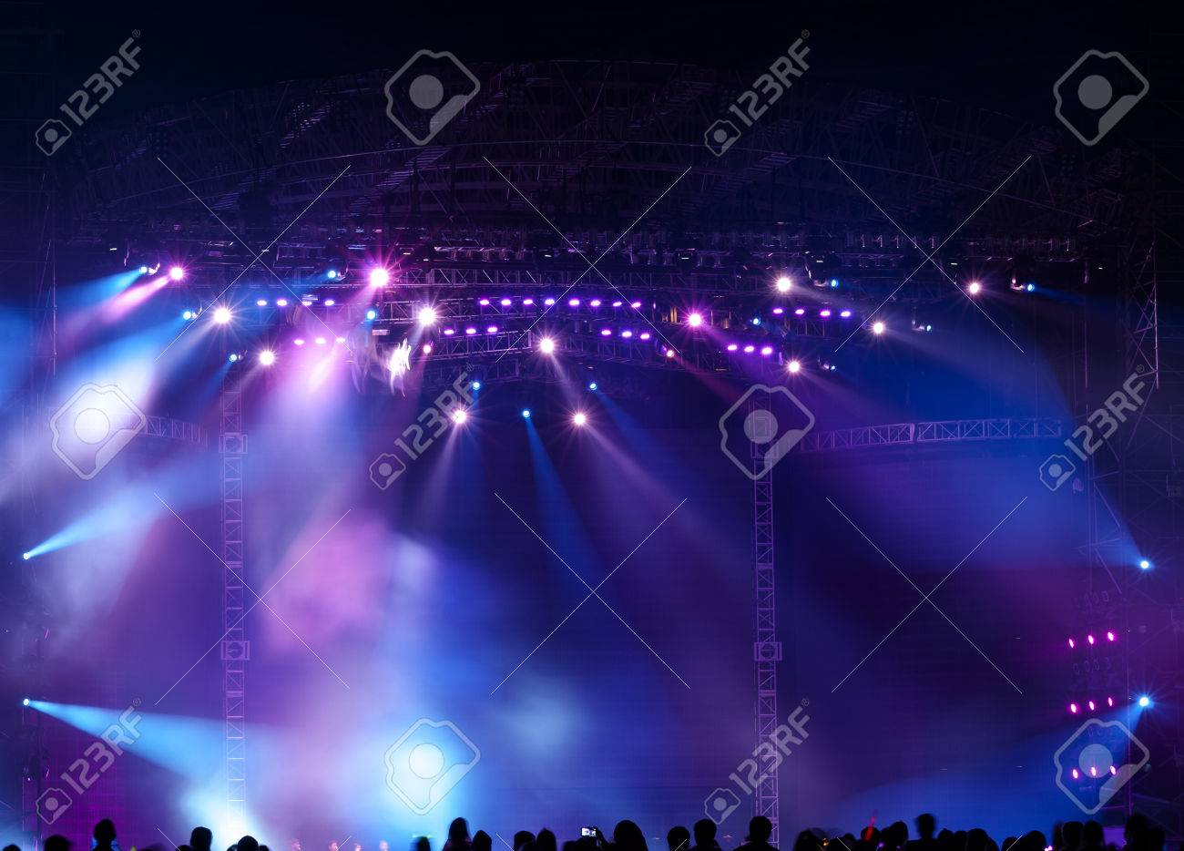 Stage Spotlight with Laser rays - 35811919