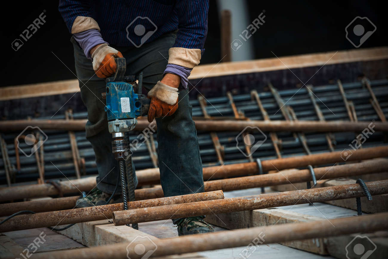 construction worker on construction site - 45242617